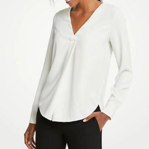 NWT!  Ann Taylor Pleat Front Blouse